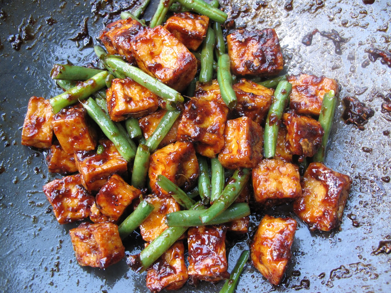 Spicy Green Beans and Tofu in Red Chili | Food For Vitality