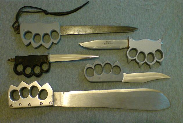 Una Sociedad de Vapor Trench+knife+brass+knuckles+knuckle+dusters+weaponcollector+handmade+homemade+(7)