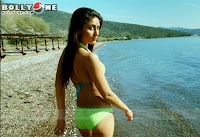 kareena in green bikini