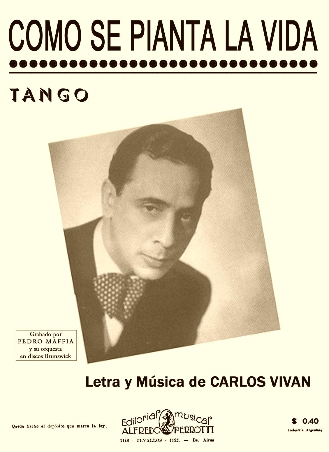 Partituras de tango como se pianta la vida for Como se cocinan las gambas