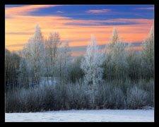 Frumuseţea apusului în iarnă ..