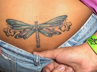 Dragonfly Tattoos lower back