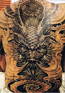 Full back Dragon Tattoos design