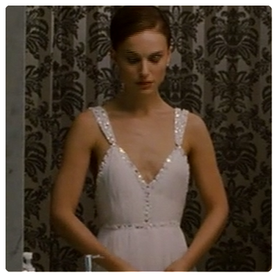 the white dress Natalie Portman wore for the toasting in Black Swan.