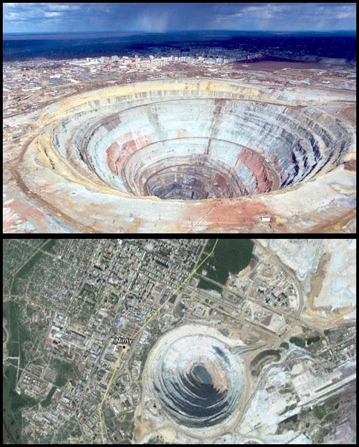 Mina de diamantes en Rusia