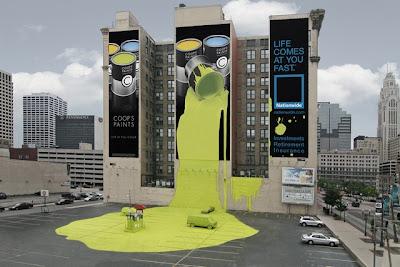 Creativa publicidad de pinturas