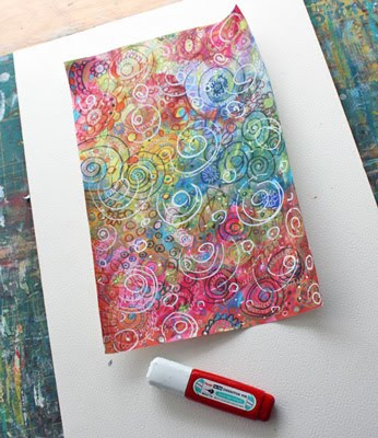 How to make your own patterned paper by Peony and Parakeet.