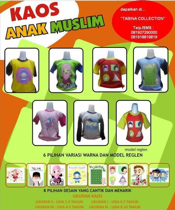Cara Memakai Jilbab Evi Tamala Stiker Do'a dan Kaos Anak Muslim RUMAH