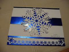 Blue foil Snowflake