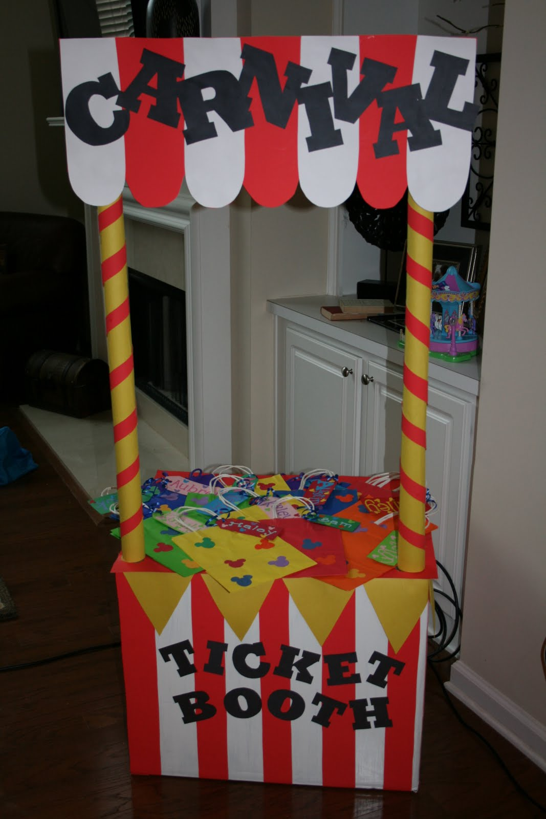 Every Carnival Needs A Ticket Booth I Made This From An Old Box And