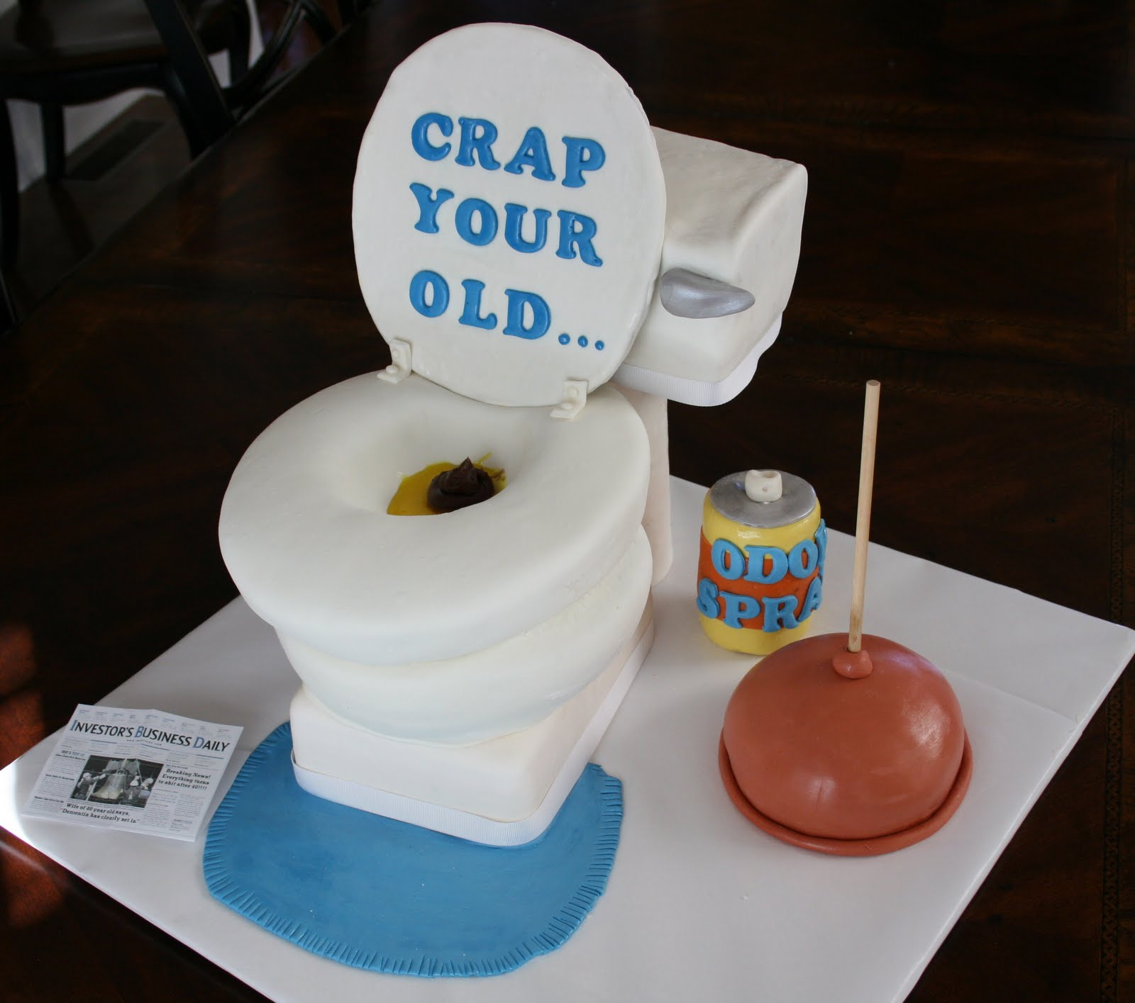And Everything Sweet Toilet Cake