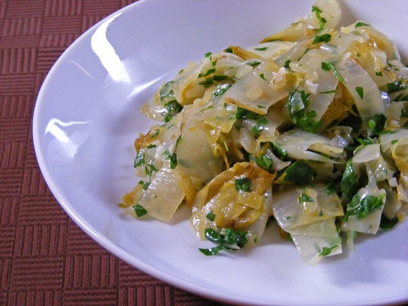 Delta Kitchen: Braised Endive with Onion