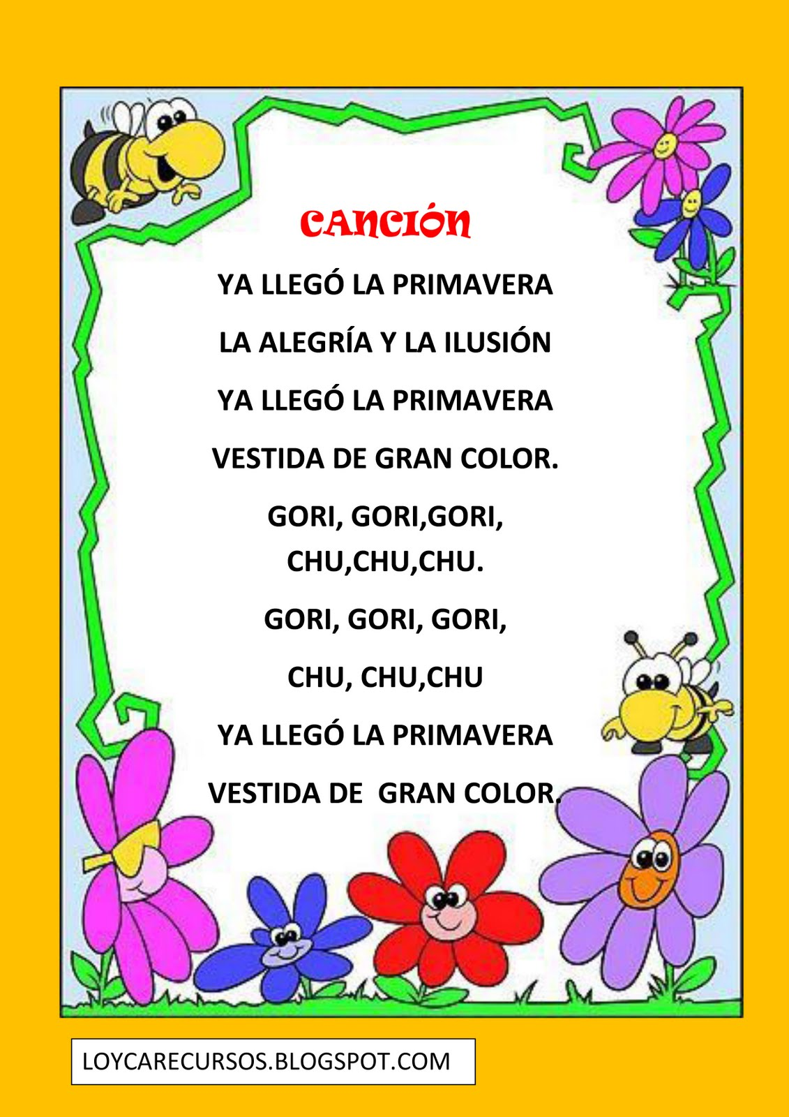 Blogmisspolly canciones de la primavera for Canciones de jardin infantes