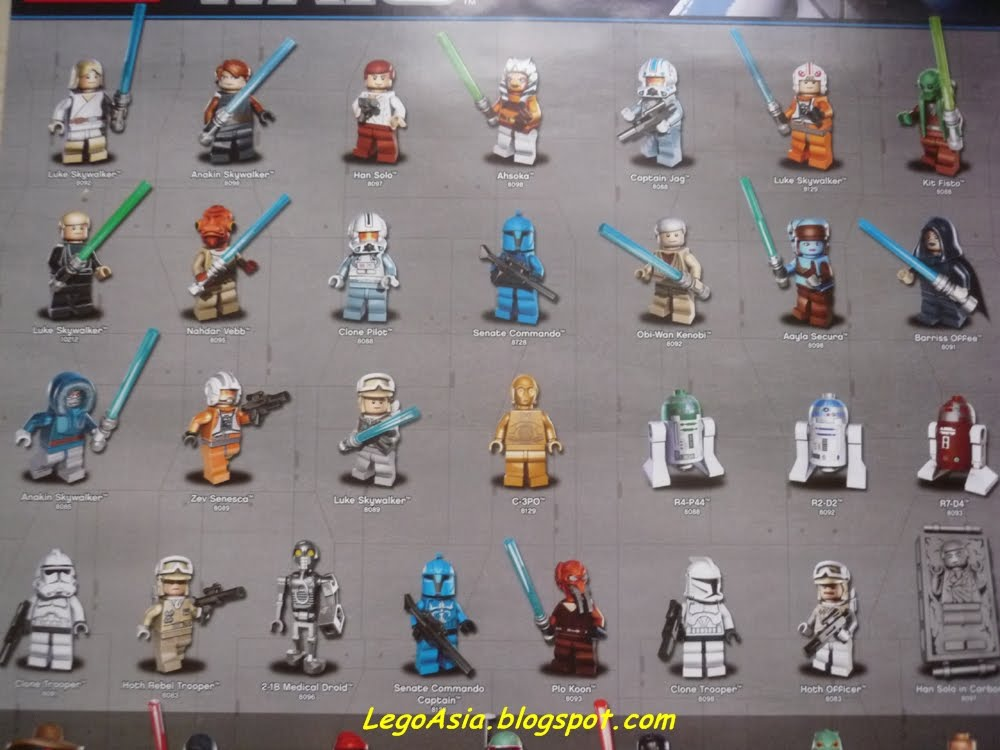 Star wars mini figures for year 2010