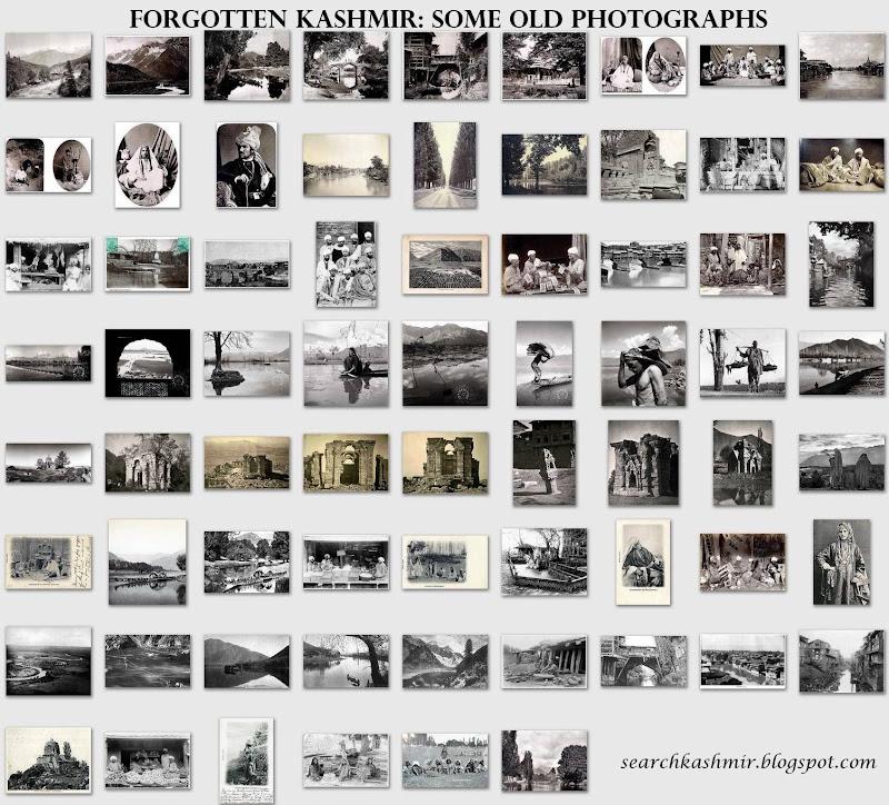 Old Photographs of Kashmir, Srinagar, Dal Lake, valley