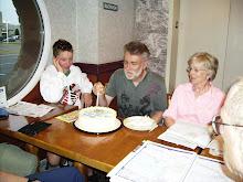 David J cutting birthday cake