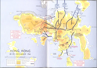 Hong kongs first maps and surveys a map depicting the defense of hong kong island in december 1941 gumiabroncs Gallery