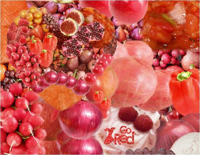 Salsa, Strawberries, Strawberry Yogurt, Tomatoes, Watermelon