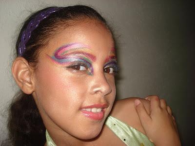 Tutorial maquillaje de hada para ni as d a brujas pixie - Como pintar la cara de nina de bruja ...