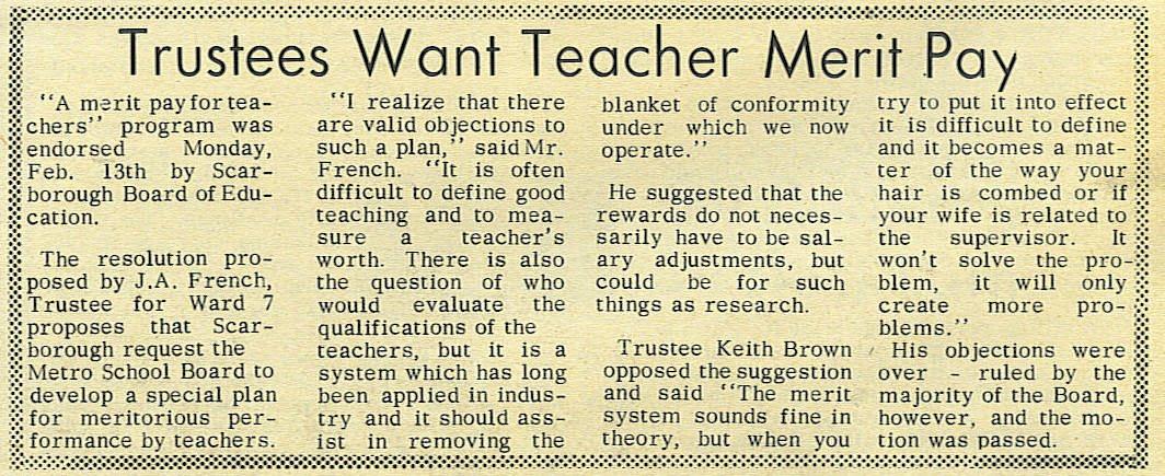 Essay on merit pay for teachers