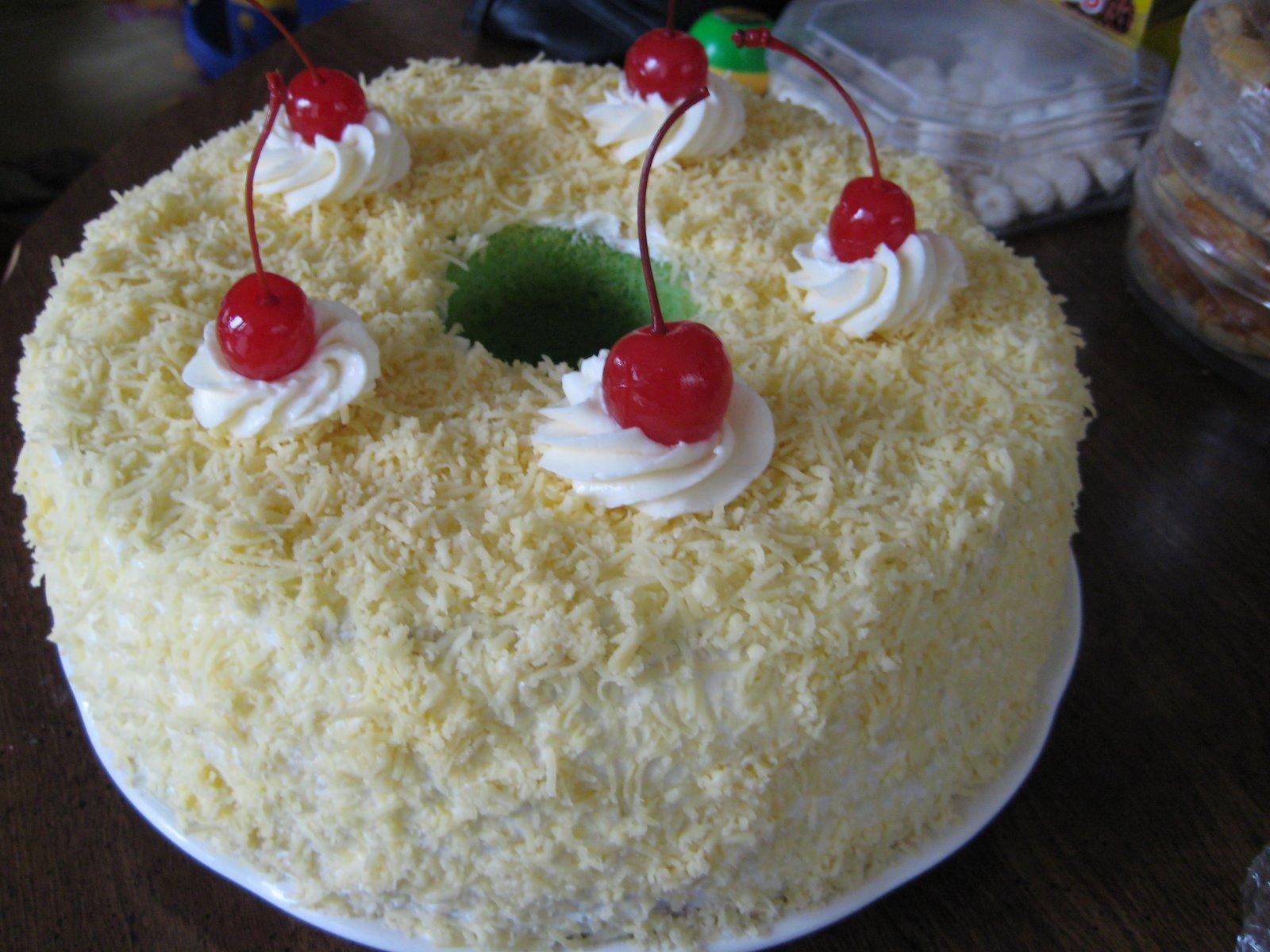 pin keju kukus buah prune banji roll black forest dan cake