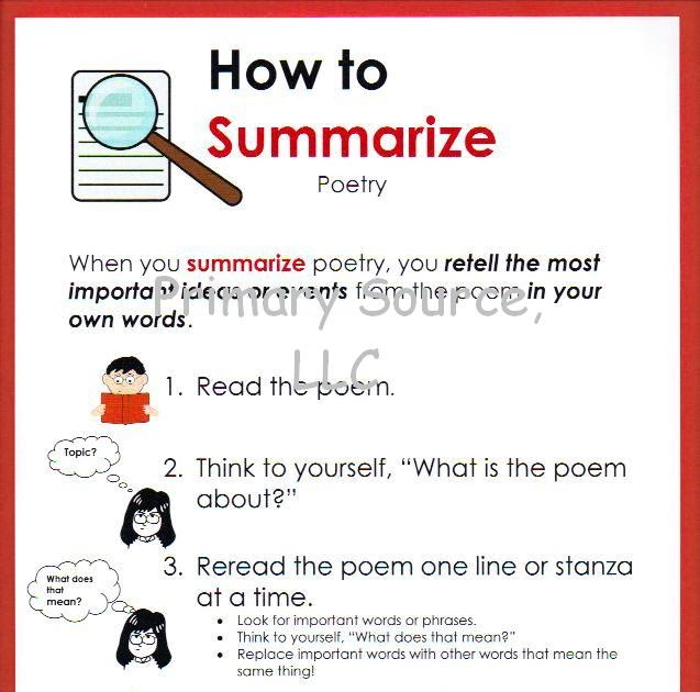how do you summarize a poem