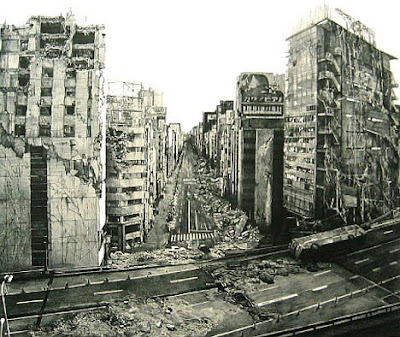 "Post Apocalyptic ""Indication-Ginza Chuo Dori"" 67×78.7㎝ lithograph 2005"