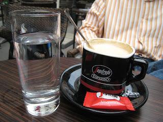 Cappuccino at a Viennese café