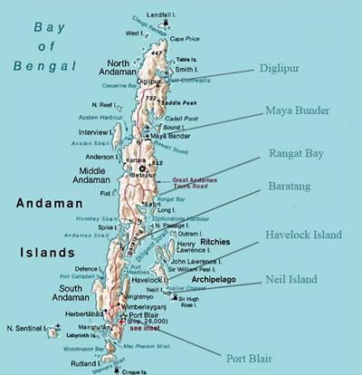 Map Of Port Blair Andaman Islands
