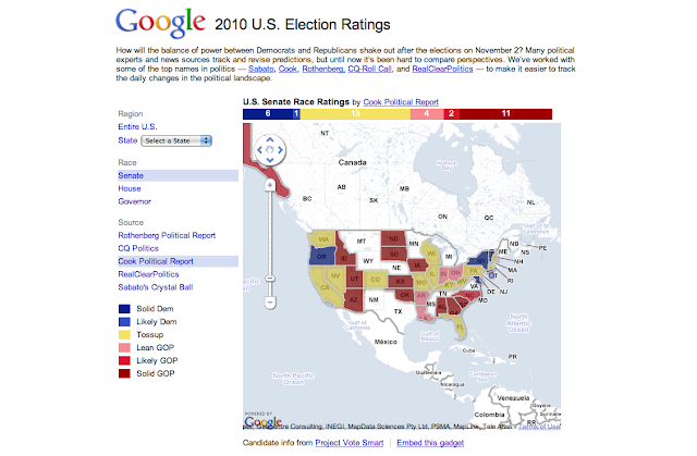 tour de france map 2010. Google 2010 Election Ratings