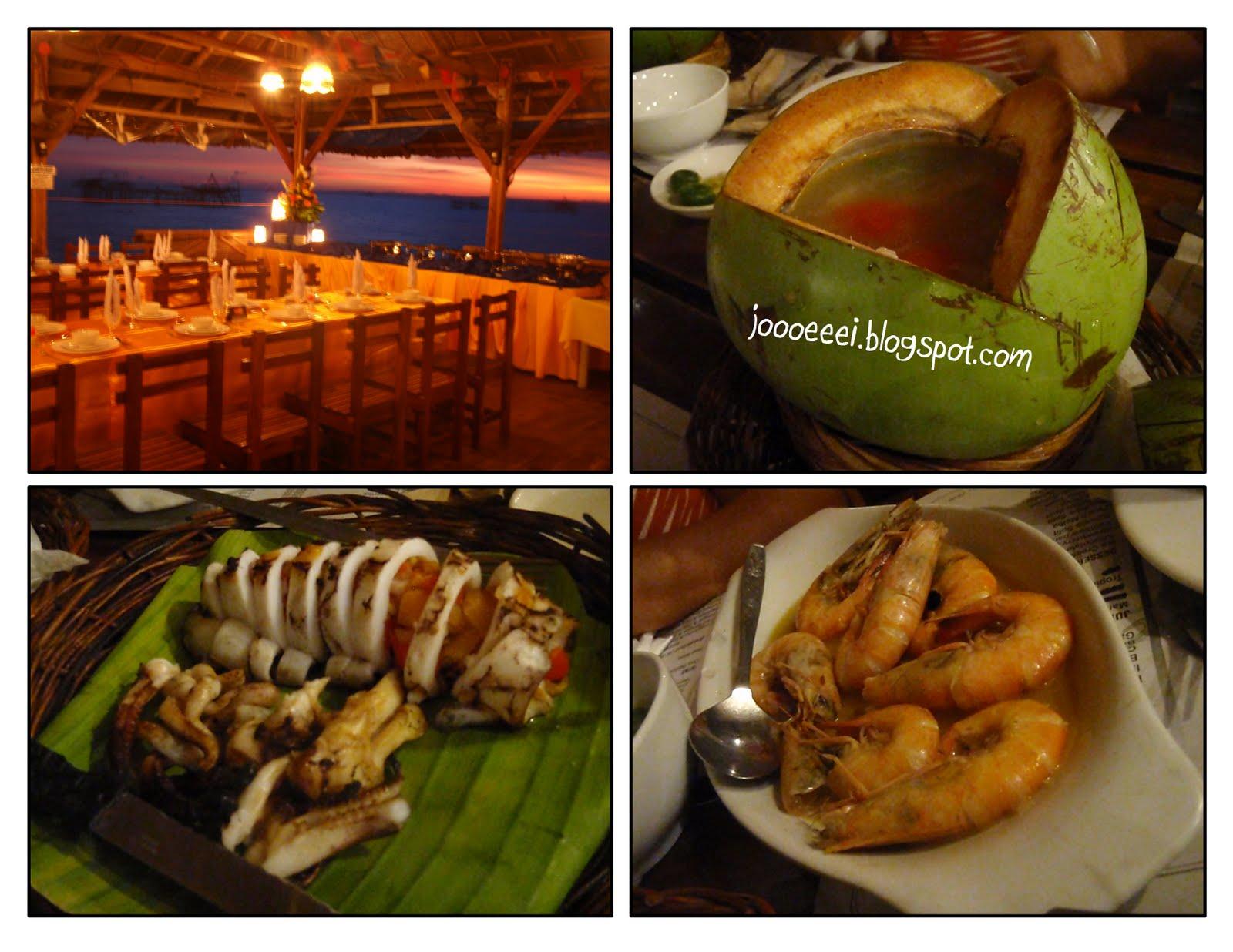 Filipino table setting - Clockwise Table Setting Soup Inside A Buko Shell Shrimps Squid