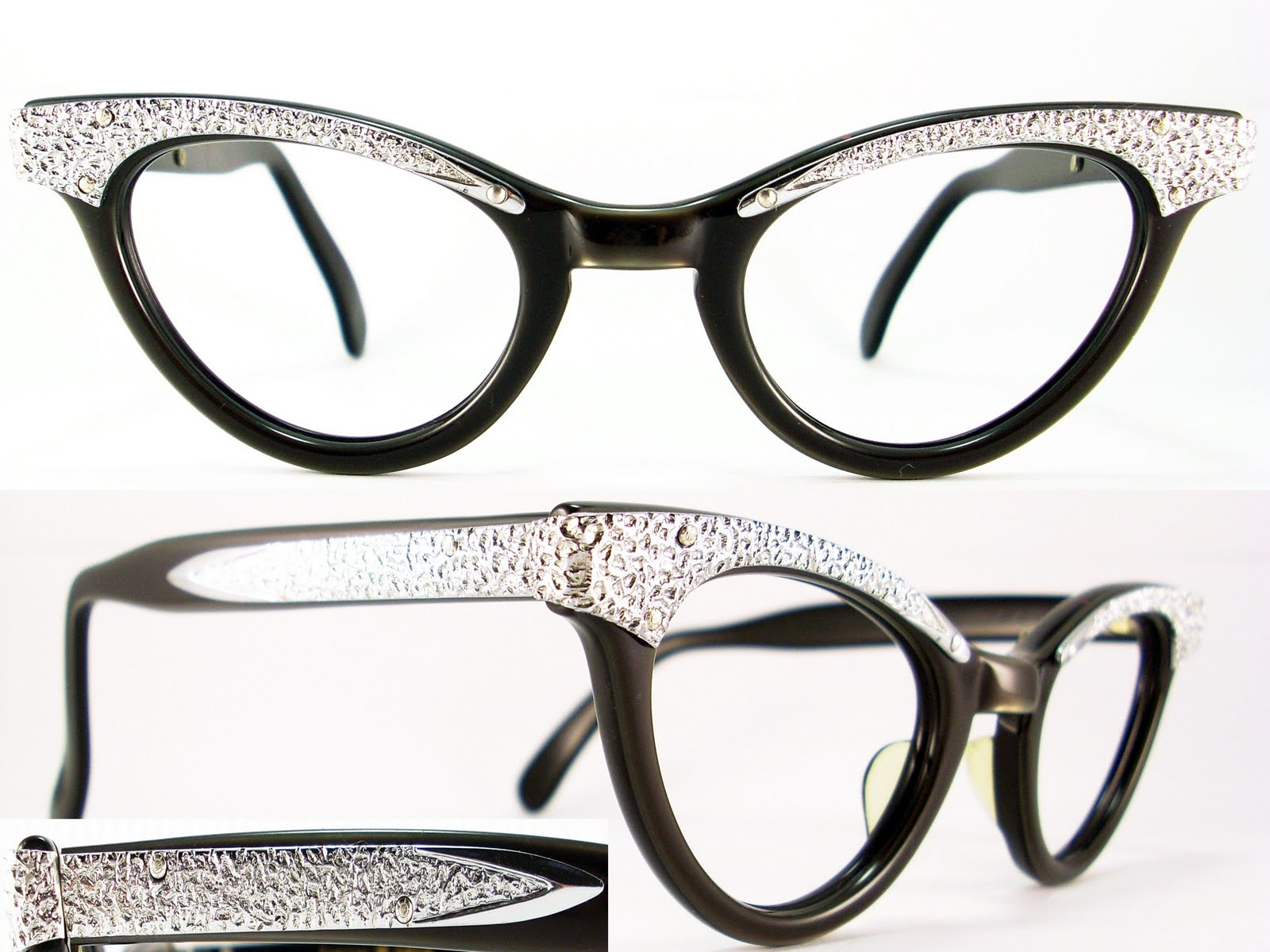 vintage 50s cat eye glasses sunglasses frame glasses