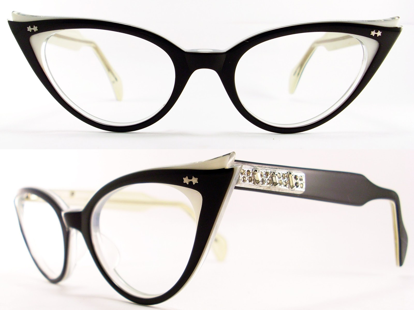 Eyeglass Frames For Large Eyes : Vintage Eyeglasses Frames Eyewear Sunglasses 50S: January 2011
