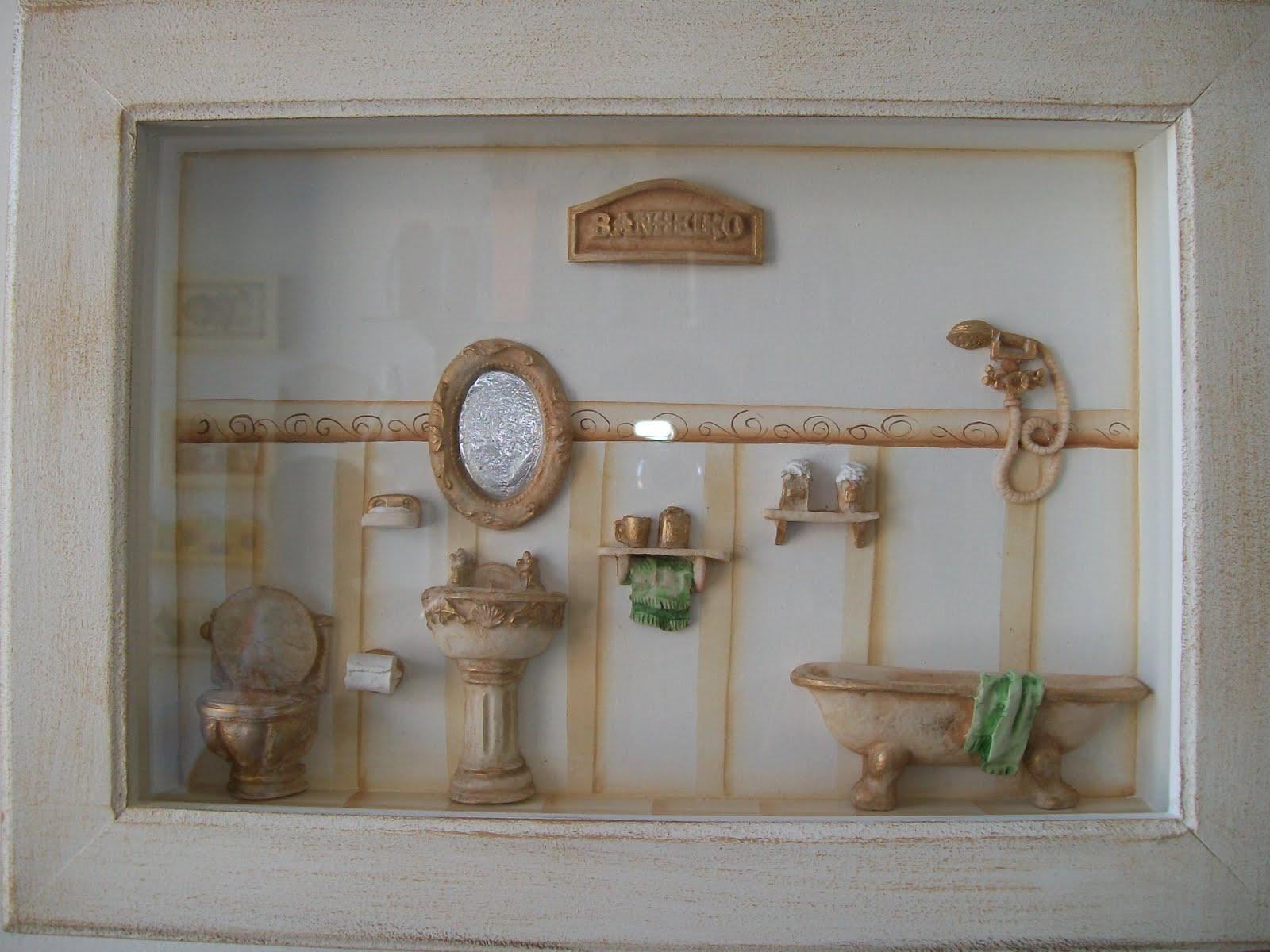 Companhia da Arte: quadro para banheiro/lavabo #614D38 1600 1200