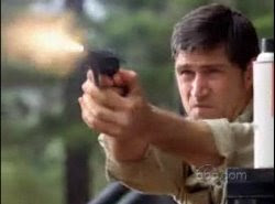 Jack Shephard Matthew Fox Lost The Variable shooting gun screencaps images pictures photos stills caps screengrabs