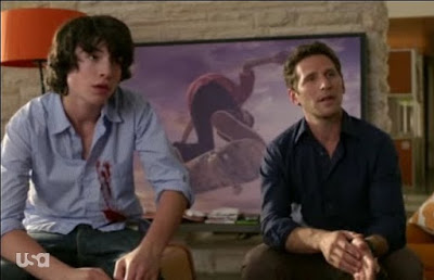 Mark Feuerstein Dr. Hank Lawson Ezra Miller Tucker Royal Pains pilot screencaps images photos pictures screengrabs caps