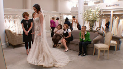 Say Yes to the Dress Bre Grant taupe silver wedding dress beauty pageant queen contestant images beading pictures photos screencaps captures Kleinfeld