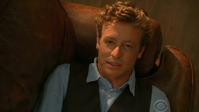 Simon Baker Patrick Jane The Mentalist The Scarlet Letter leather couch thinking Elvis screencaps images photos pictures screengrabs captures