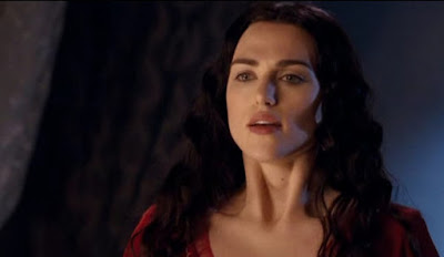 Merlin The Tears of Uther Pendragon screencaps Morgana red dress Katie McGrath castle images photos pictures screengrabs