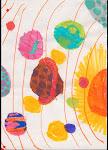 Solsystemet målat av Ylva när hon var 9 år