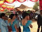 Ytterligare bild från bröllopet i Angkor, Kambodja