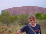 Uluru centralt i Australien (södra Northern Territory)