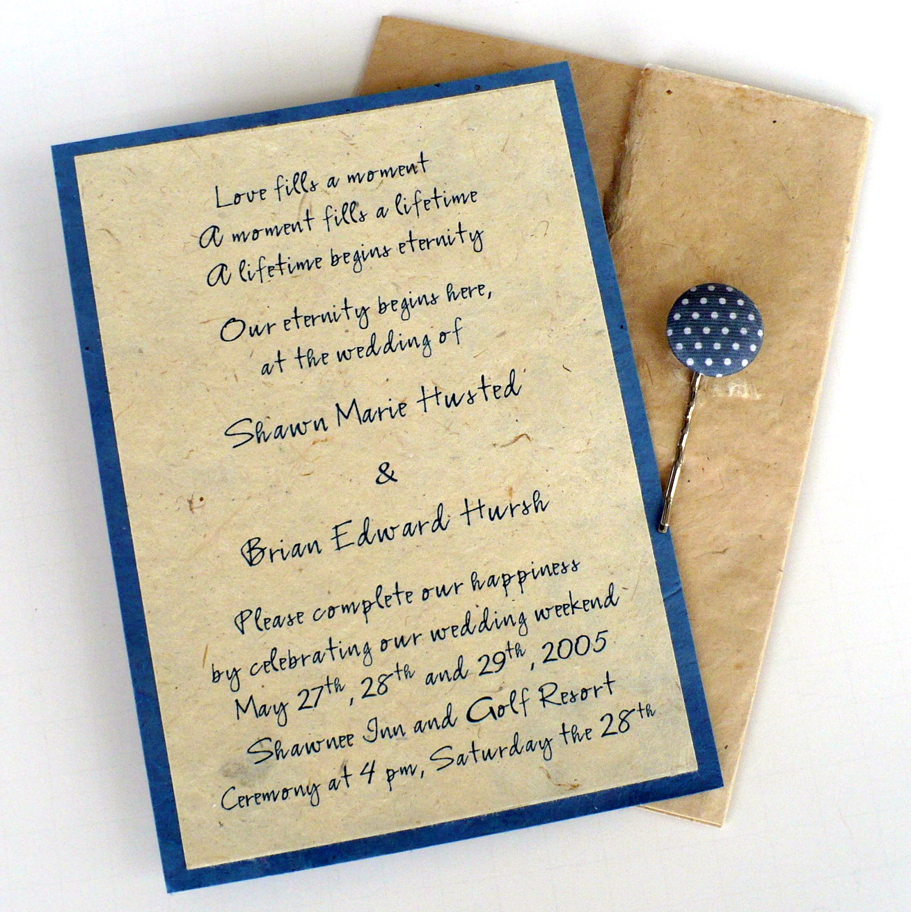 hindu personal wedding invitation wording in stylish
