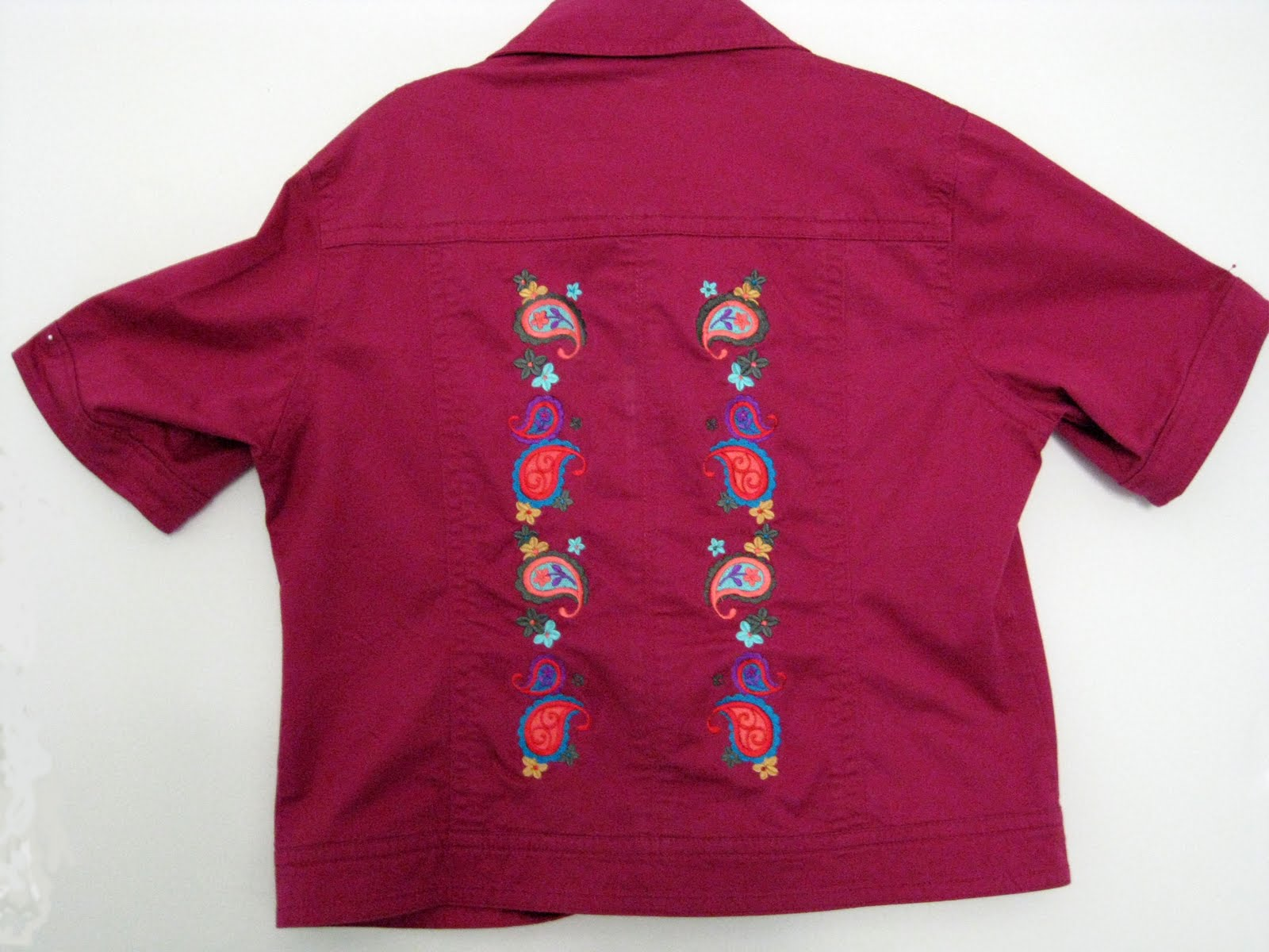 California fiber artist and composer embroidered jacket