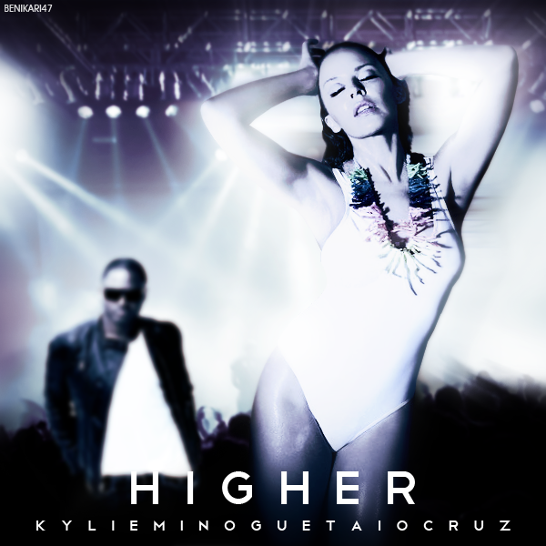 Taio Cruz - Higher (Ft. Kylie Minogue) (FanMade Single Cover)