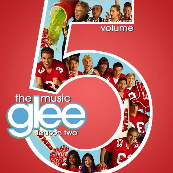 Glee Cast - Volume 5 (FanMade Album Cover). Made by BlackSwan33