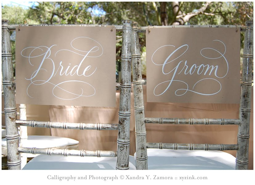 Bride and Groom Sign Template