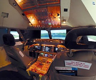 The Bedroom 747 simulator