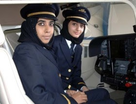 Etihad Airways female cadet pilots