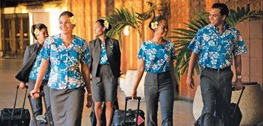 Aeromoças Hawaiian Airlines